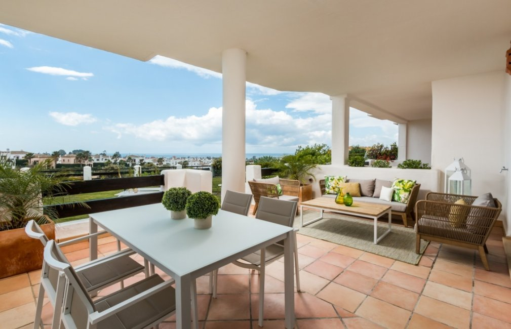 4 TERRACE SEA VIEWS SUNSET GOLF DISCOUNT PROPERTY CENTER MARBELLA