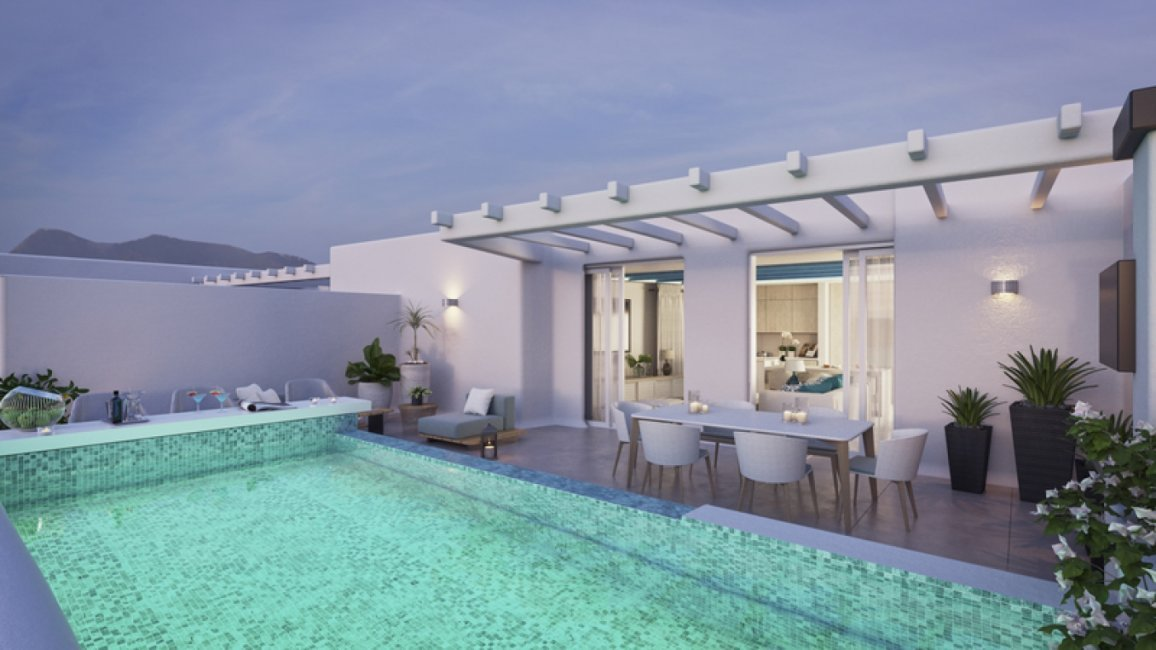 New apartments Marbella Centre penthouse terrace